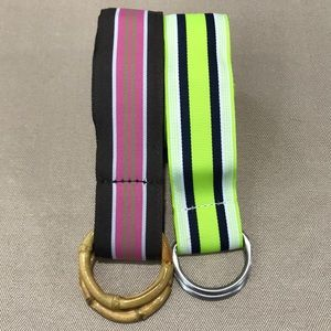 Set of two (2) J. Crew D-Ring Belts